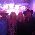 Buddy, Trisha Yearwood, Andrea, and Garth Brooks